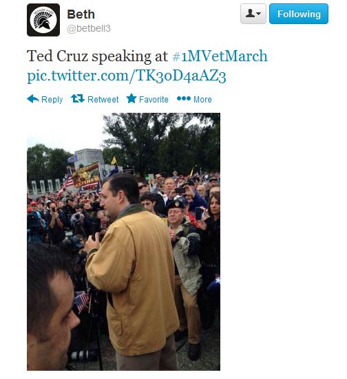 vet march tweet 2 cruz