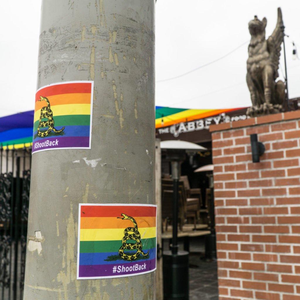 Rainbow Gadsden flag7