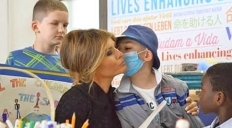 melania trump visits vatican hospital boy gets heart transplant miracle