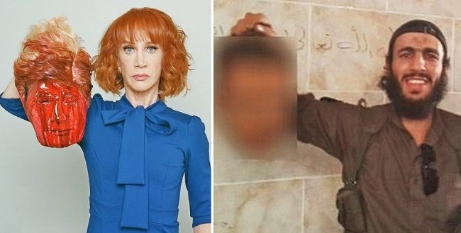 kathy griffin no longer sorry for trump severed head isis stunt