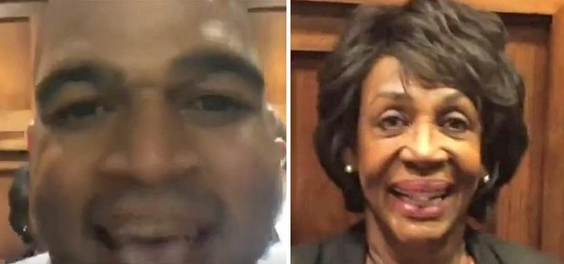 Delightful: Reporter files assault charges against Maxine Waters after confrontation on Capitol Hill SG-maxine-waters-laura-loomer