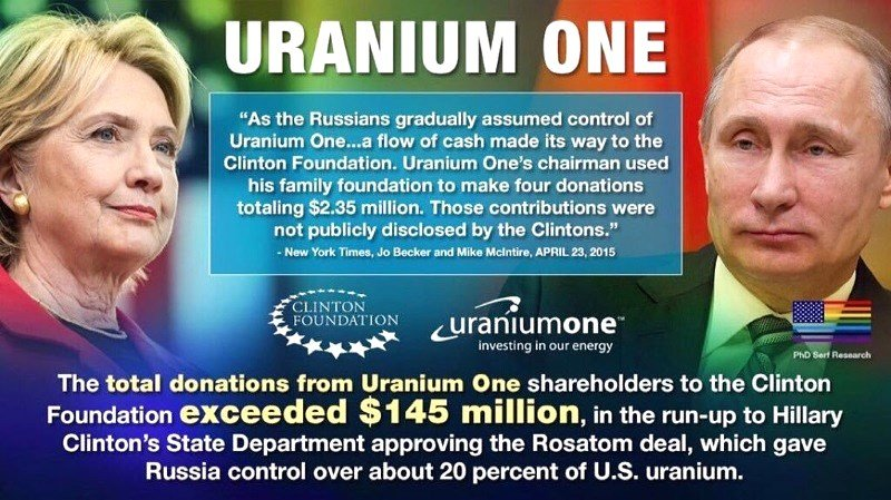 hillary clinton uranium one rosatom clinton foundation