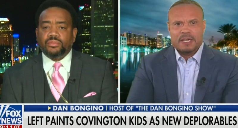 Former Secret Service agent Dan Bongino schooled BishopTalbert Swan for trashing the MAGA hat-wearing teens as racists
