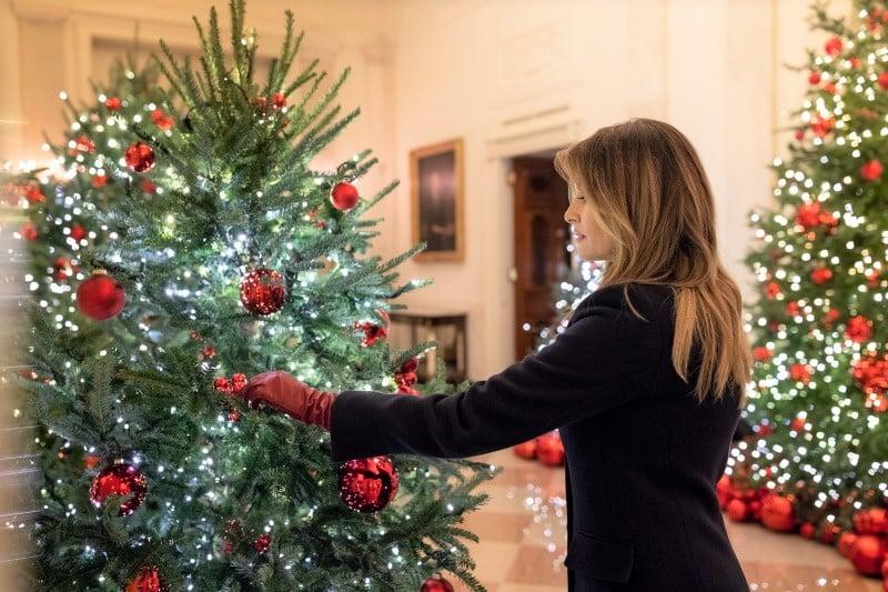 Melania Trump White House Christmas tree 2019